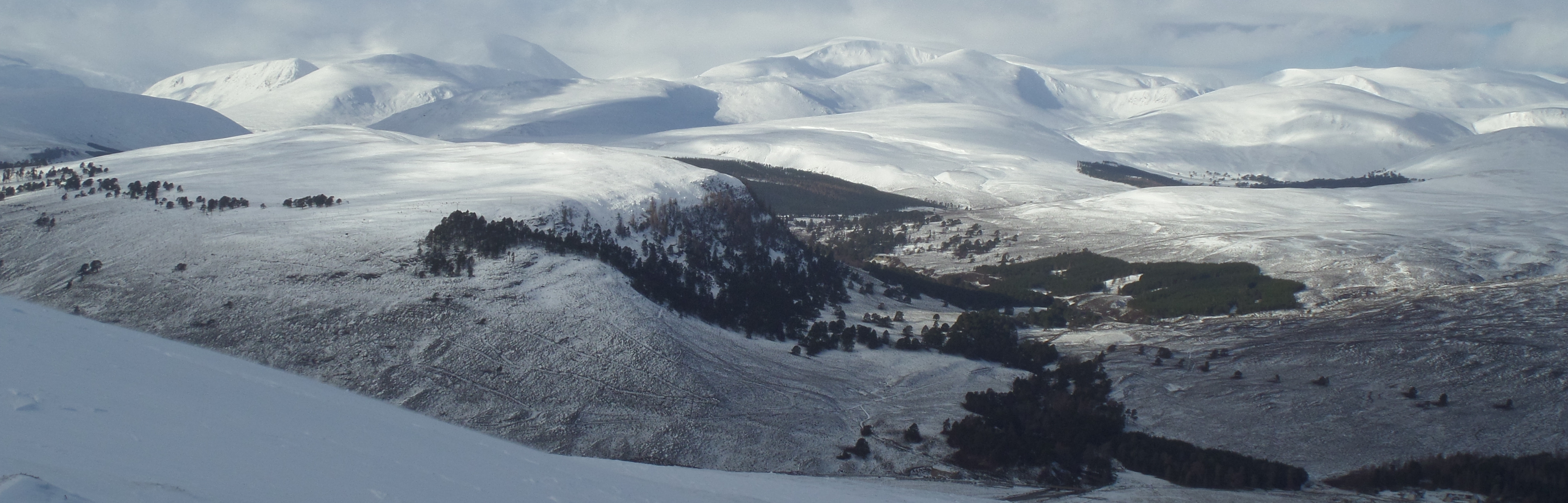 Cairngorms winter view from Morrone